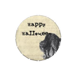 Petriifed Cat Halloween Treats Candy Tins