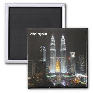 petronas towers malaysia square magnet