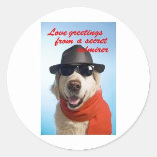 Pets Dog Secret Admirer Valentine Jitka Stickers
