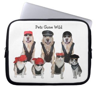 Pets Gone Wild Laptop Sleeve