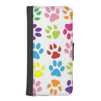 Pets paw print pattern iPhone SE/5/5s wallet case