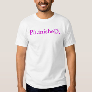 Ph.D. T-Shirt Plum on White