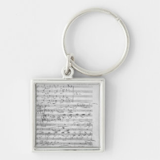Phantasiestucke, Opus, for piano Silver-Colored Square Key Ring