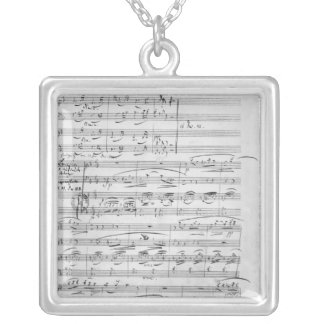 Phantasiestucke, Opus, for piano Square Pendant Necklace