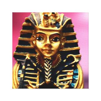 Pharaoh Ancient Egyptian Statue Tomb Art Canvas