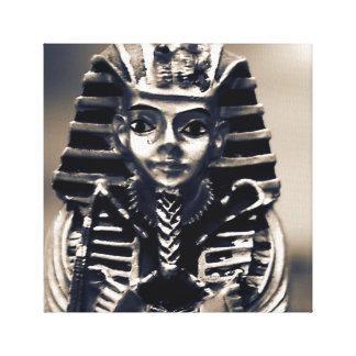 Pharaoh Egyptian Ancient Statue Tomb Art Canvas