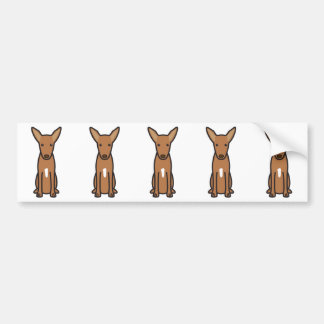 Pharaoh Hound Dog Cartoon Bumper Sticker