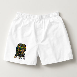 """Pharaoh Kat"" Men's Cotton Boxers"