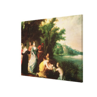 Pharaoh's Daughter Discovering Moses Canvas Print
