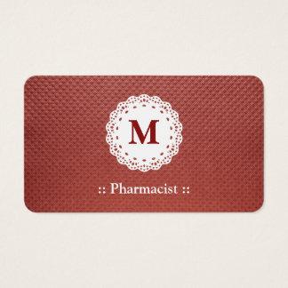 Pharmacist Lace Monogram Maroon
