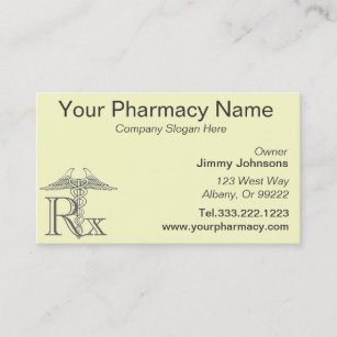 Prescription pharmacist business cards zazzle nz pharmacy pharmacist medication list business card reheart Image collections