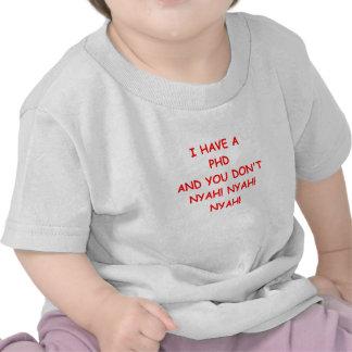 PHD joke T-shirts