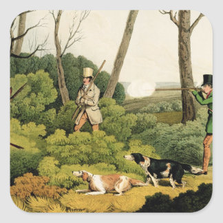 'Pheasant Shooting', pub. by Thomas McLean, 1820 ( Square Sticker