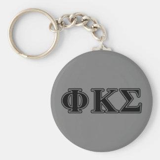 Phi Kappa Sigma Black Letters 2 Key Ring