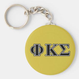 Phi Kappa Sigma Black Letters Key Ring