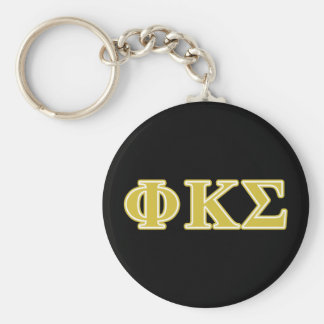 Phi Kappa Sigma Gold Letters Key Ring