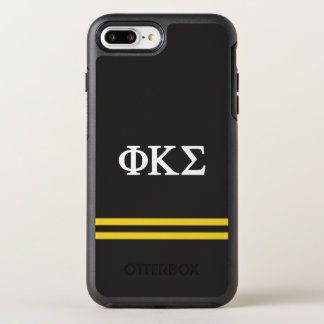 Phi Kappa Sigma   Sport Stripe OtterBox Symmetry iPhone 8 Plus/7 Plus Case