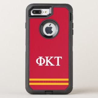 Phi Kappa Tau   Sport Stripe OtterBox Defender iPhone 8 Plus/7 Plus Case