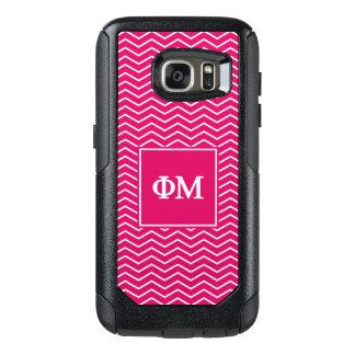 Phi Mu   Chevron Pattern OtterBox Samsung Galaxy S7 Case