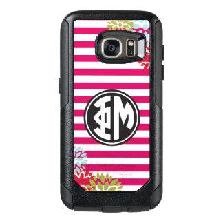 Phi Mu   Monogram Stripe Pattern OtterBox Samsung Galaxy S7 Case