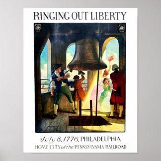 Philadelphia Liberty on The Pennsylvania Railroad Poster