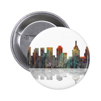 Philadelphia Pennsylvania Skyline 6 Cm Round Badge