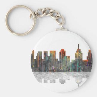 Philadelphia Pennsylvania Skyline Basic Round Button Key Ring