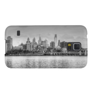 Philadelphia skyline in black and white galaxy s5 cover