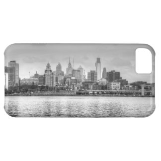 Philadelphia skyline in black and white iPhone 5C case
