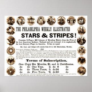 Philadelphia Weekly 1918 Stars & Stripes Newspaper Poster