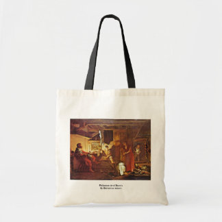 Philemon And Baucis By Elsheimer Adam Tote Bag