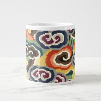 Philip Jacobs Fabric, Tibetan Cloud Scroll Mug. Jumbo Mug