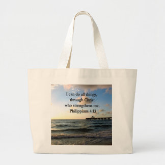 PHILIPPIANS 4:13 HOPE LARGE TOTE BAG