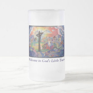 Philippians 4:13 (sm. ver.) frosted glass beer mug