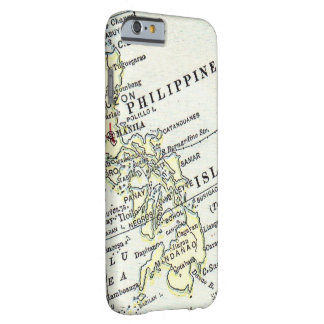 Philippine Islands Manila vintage map Barely There iPhone 6 Case
