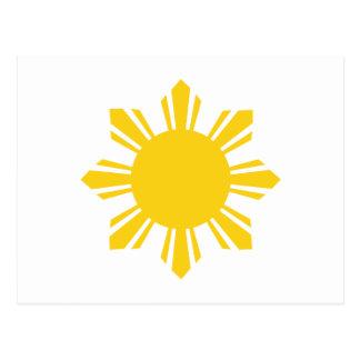 Philippine Sun Pinoy Sun Filipino Sun Post Card