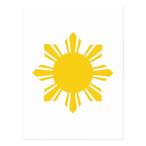 Philippine Sun, Pinoy Sun, Filipino Sun Post Cards