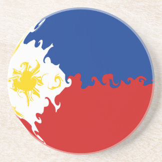 Philippines Gnarly Flag Beverage Coasters