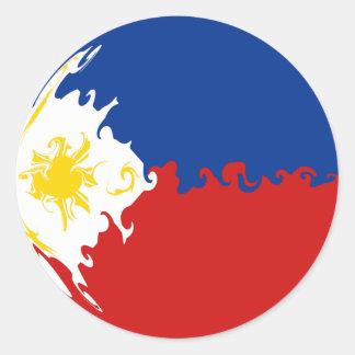 Philippines Gnarly Flag Round Sticker