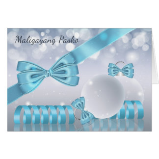 Philippines - Stylish Christmas Greetings Ornament Card