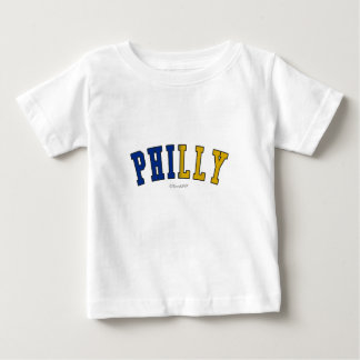 Philly in Pennsylvania state flag colors Baby T-Shirt