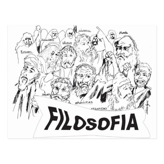 PHILOSOPHERS Plato Aristotle euclides Socrates Postcard