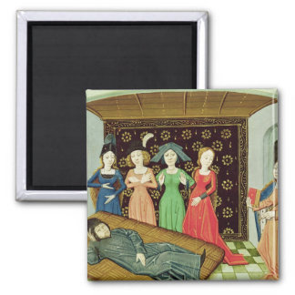 Philosophy and the Muses Square Magnet