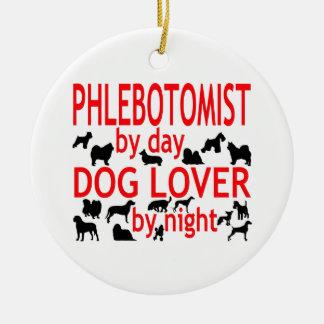 Phlebotomist Dog Lover Christmas Ornament