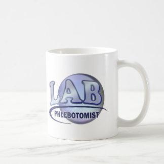 PHLEBOTOMIST Fun Blue LOGO Basic White Mug