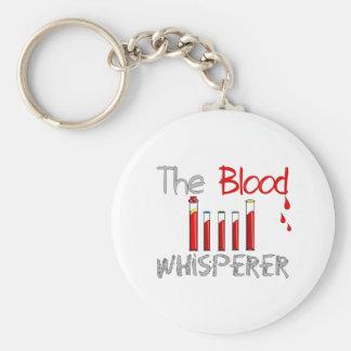 "Phlebotomist Gifts ""The Blood Whisperer"" Basic Round Button Key Ring"