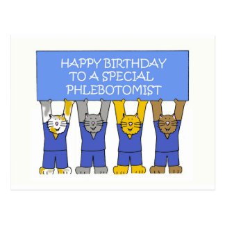 Phlebotomist Happy Birthday Postcard