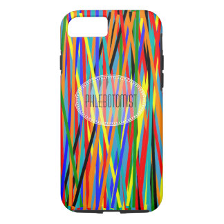 Phlebotomist iPhone 7 case Colorful Abstract