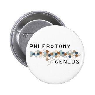 Phlebotomy Genius 6 Cm Round Badge