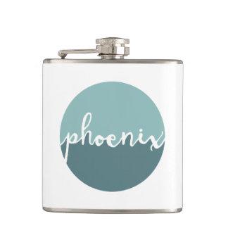 Phoenix, Arizona | Blue Ombre Circle Hip Flask
